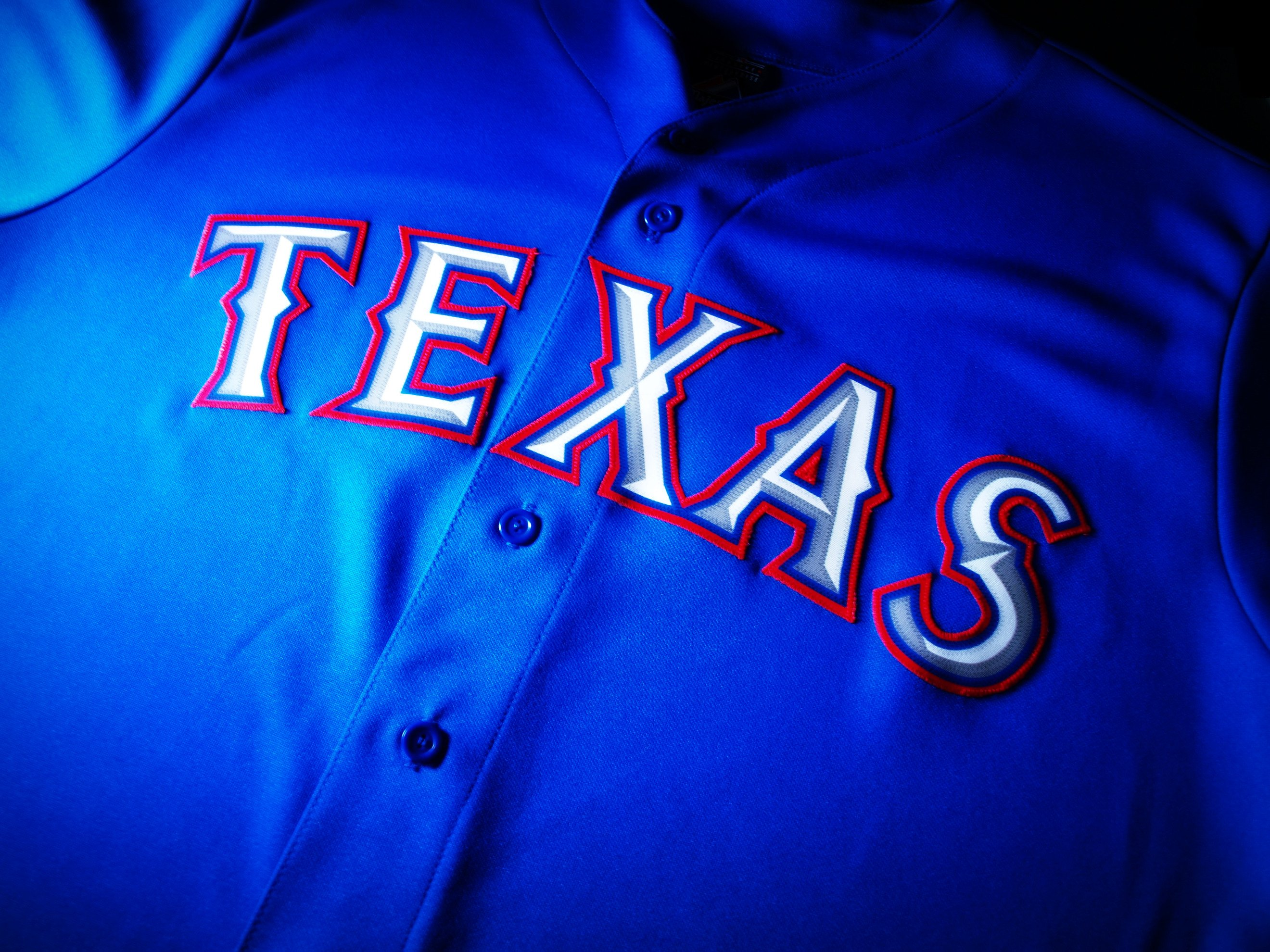 Texas Rangers Blue Jersey by yume ninja 2640 x 1980 2640x1980