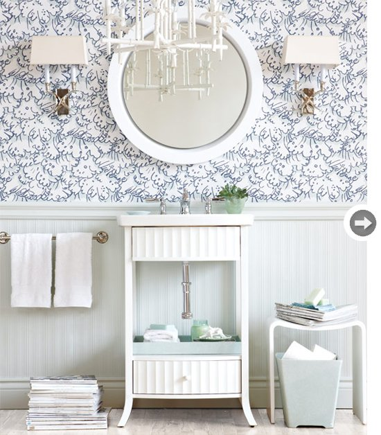 Wallpaper for powder room wallpapersafari - Powder room wallpaper ideas ...