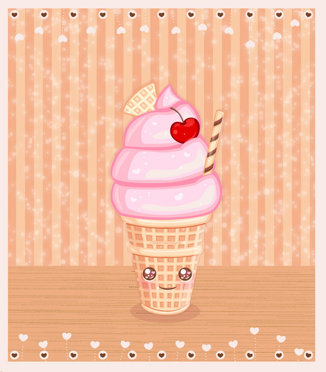 Summer Ice Cream Wallpaper: Cute Ice Cream Wallpaper