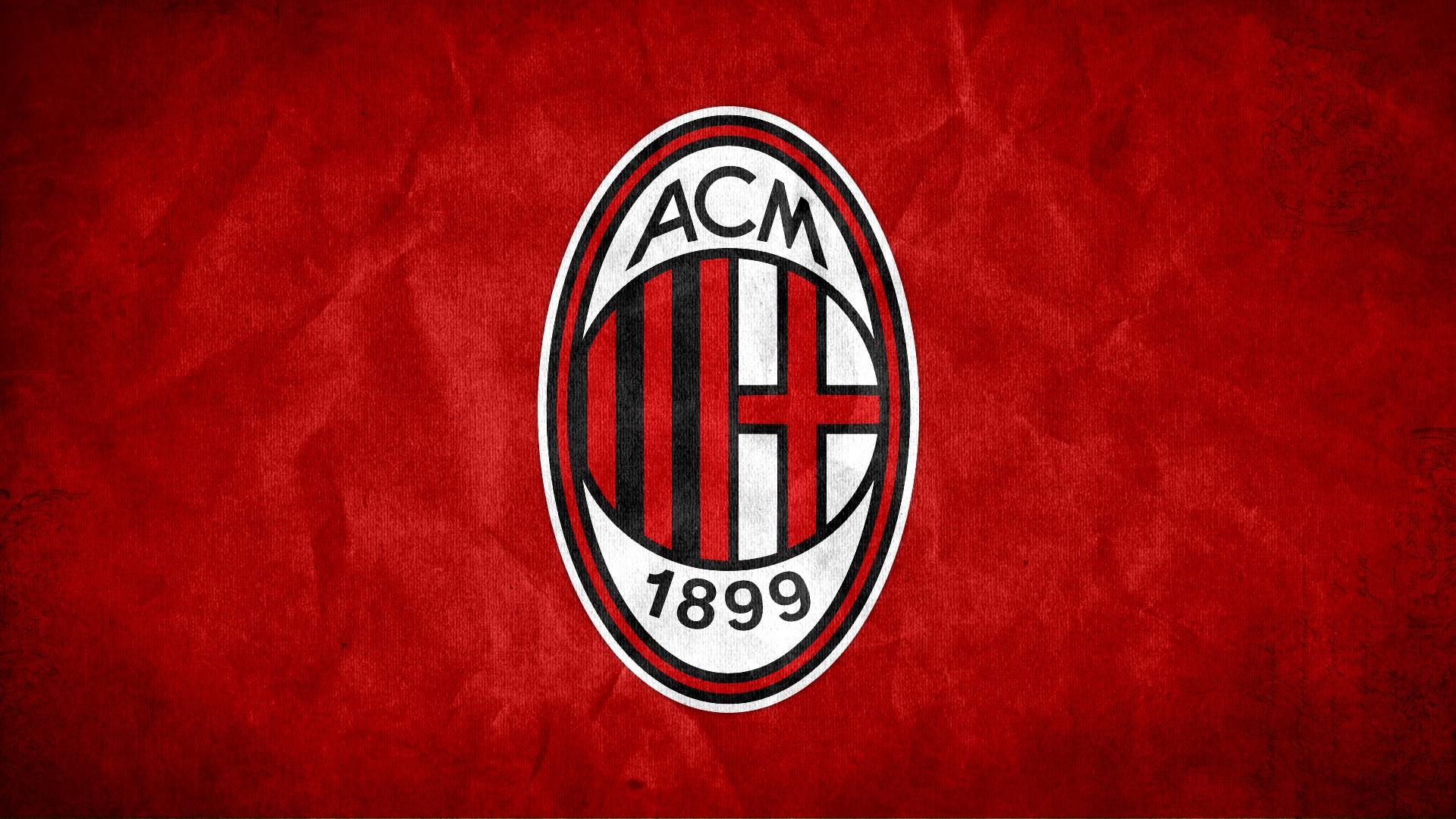 AC Milan FC Football Logo HD Wallpaper of Football   hdwallpaper2013 1920x1080