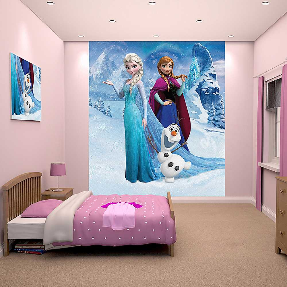 Disney Frozen Wallpaper Mural by Walltastic Nursery Kids Bedroom 1000x1000