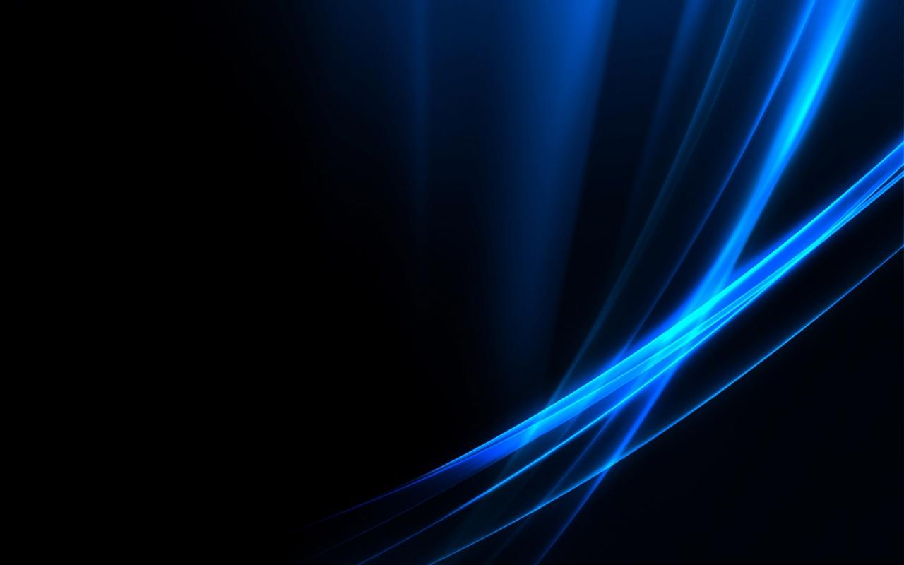 wallpaper black blue hd 1280x800