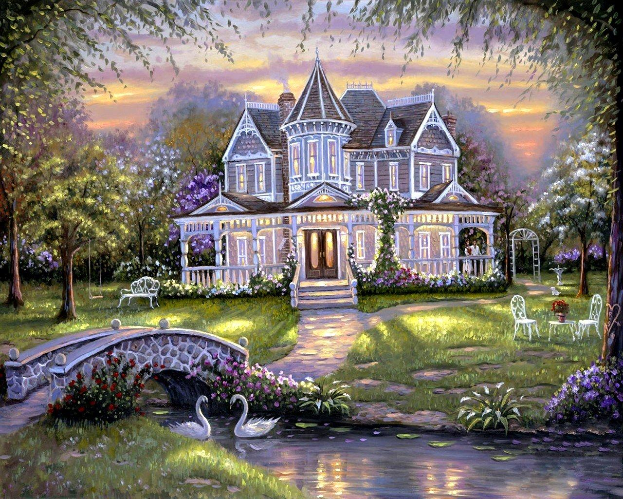 Beautiful houses wallpapers desktops wallpapersafari for Quality wallpaper for home