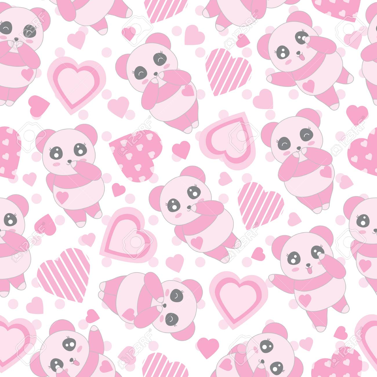 Seamless Background Of Valentines Day Illustration With Cute 1300x1300