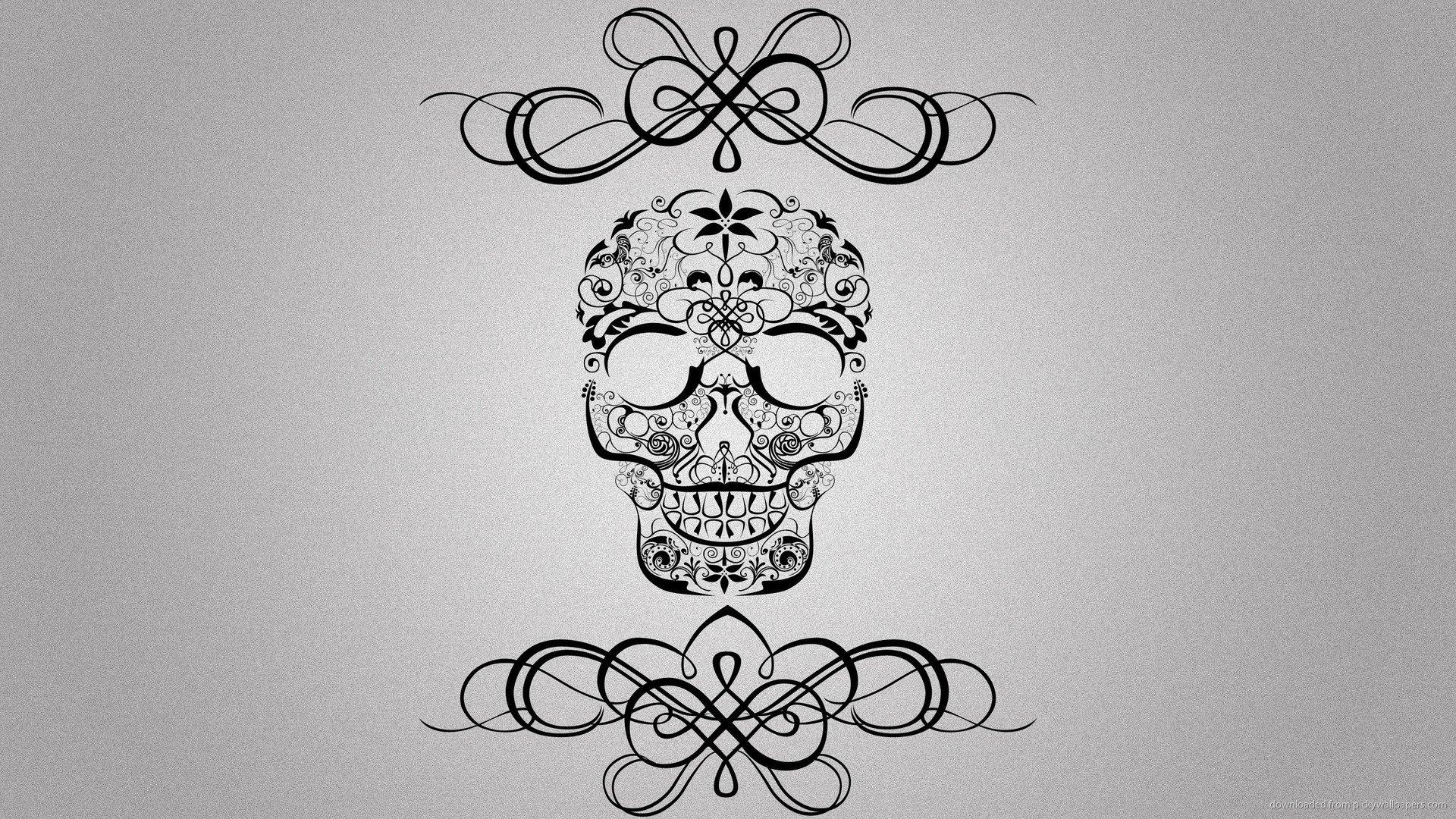 Skull Picture For iPhone Blackberry iPad Symmetrical Skull 1920x1080