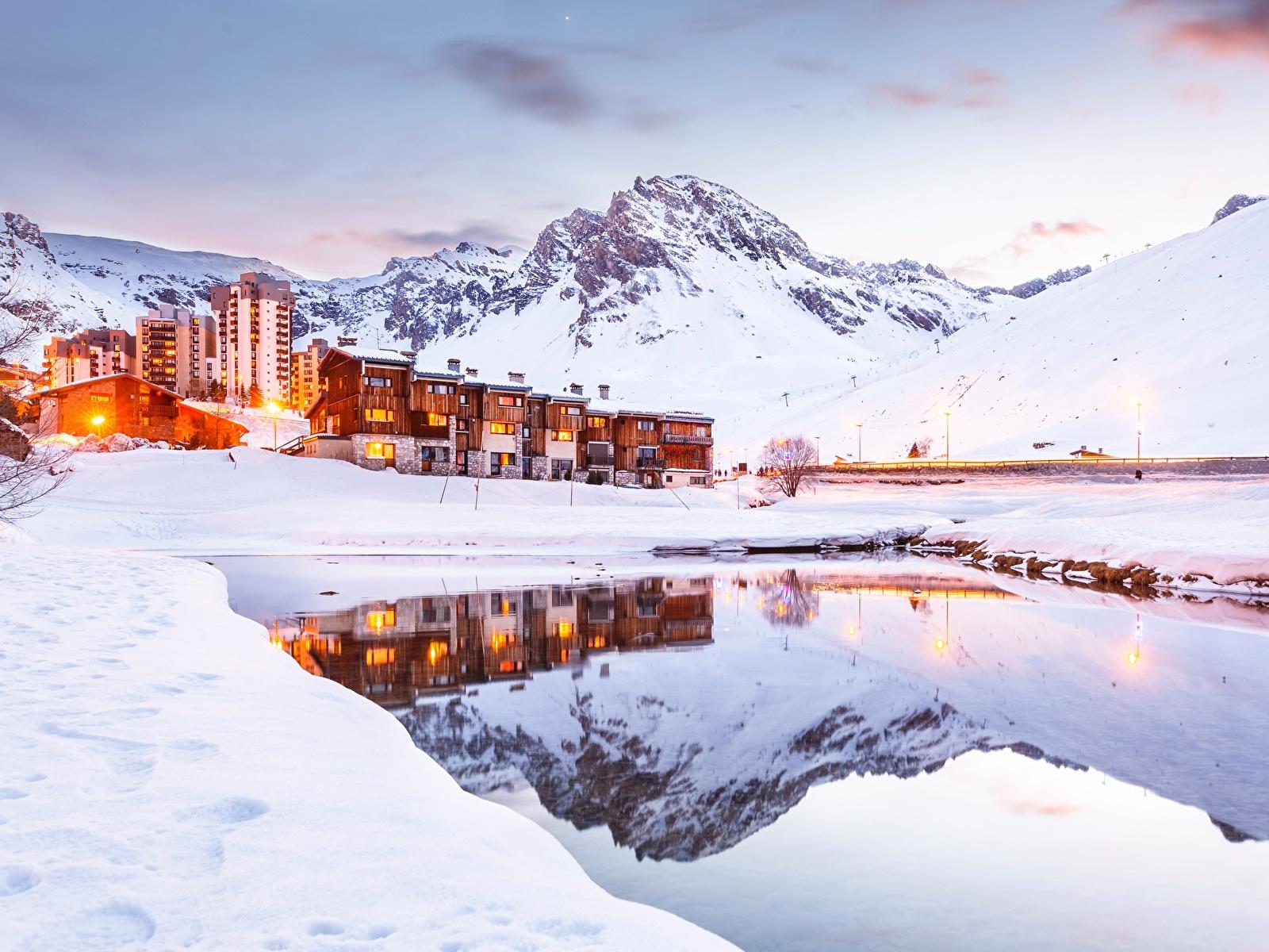 Photos Alps France Tignes Nature Winter Mountains Snow 1600x1200 1600x1200