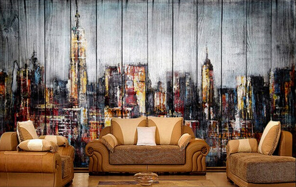 any size murals photo 3d wallpaper Retro graffiti wall mural wallpaper 604x382