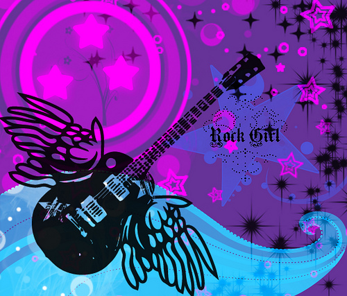 rockstar girl background Flickr   Photo Sharing 500x427