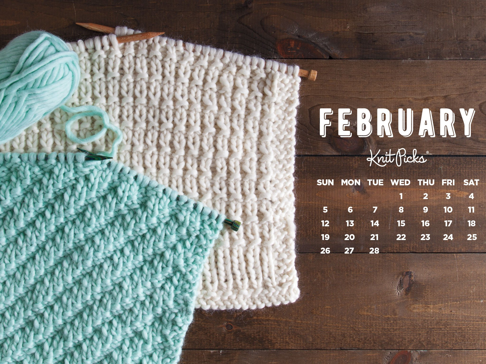 Downloadable February Calendar from Knit Picks 2048x1536