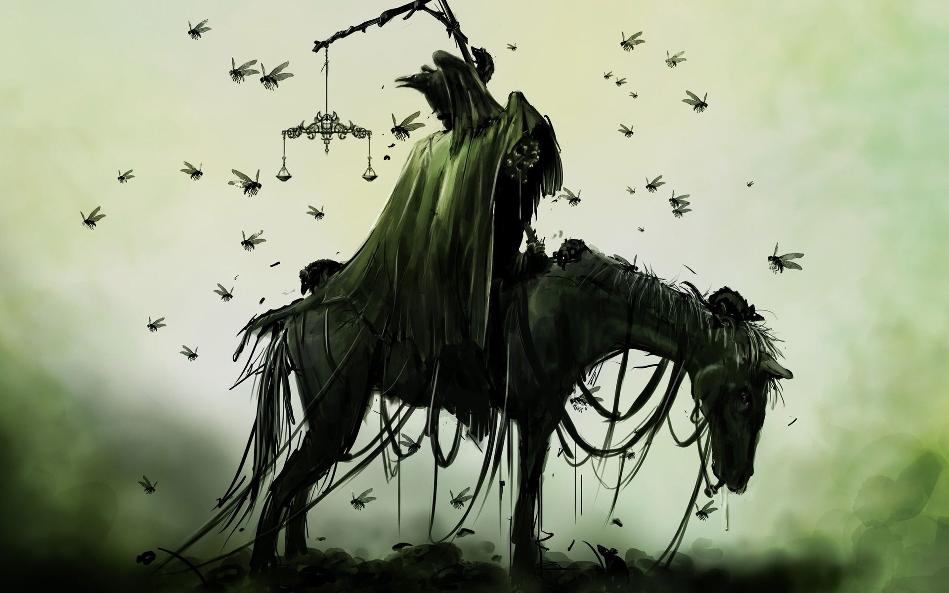 horseman of the apocalypse fantasy hd wallpaper 1920x1200 1486jpg 1920x1200