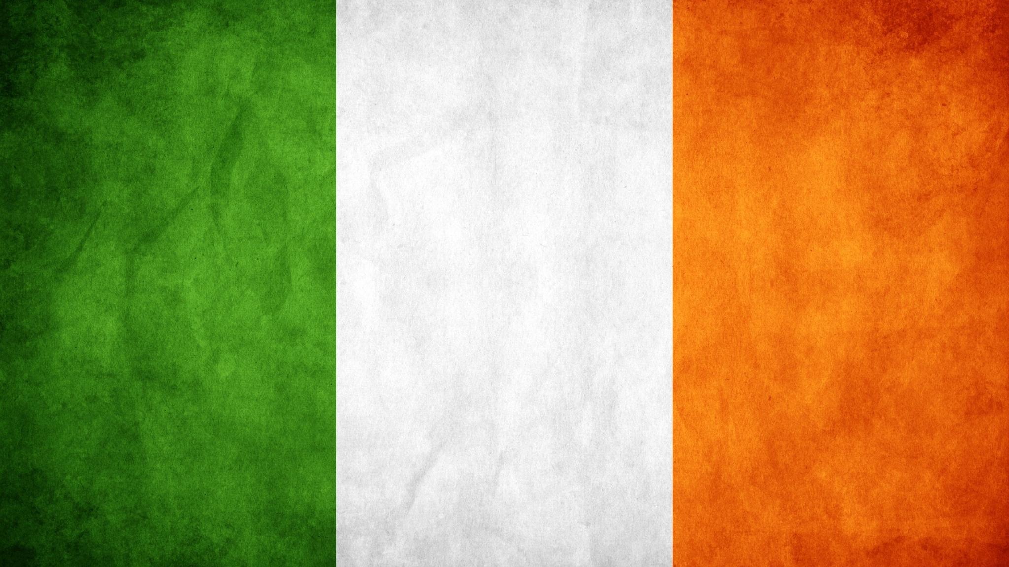 Download wallpaper 2048x1152 ireland flag colors background 2048x1152