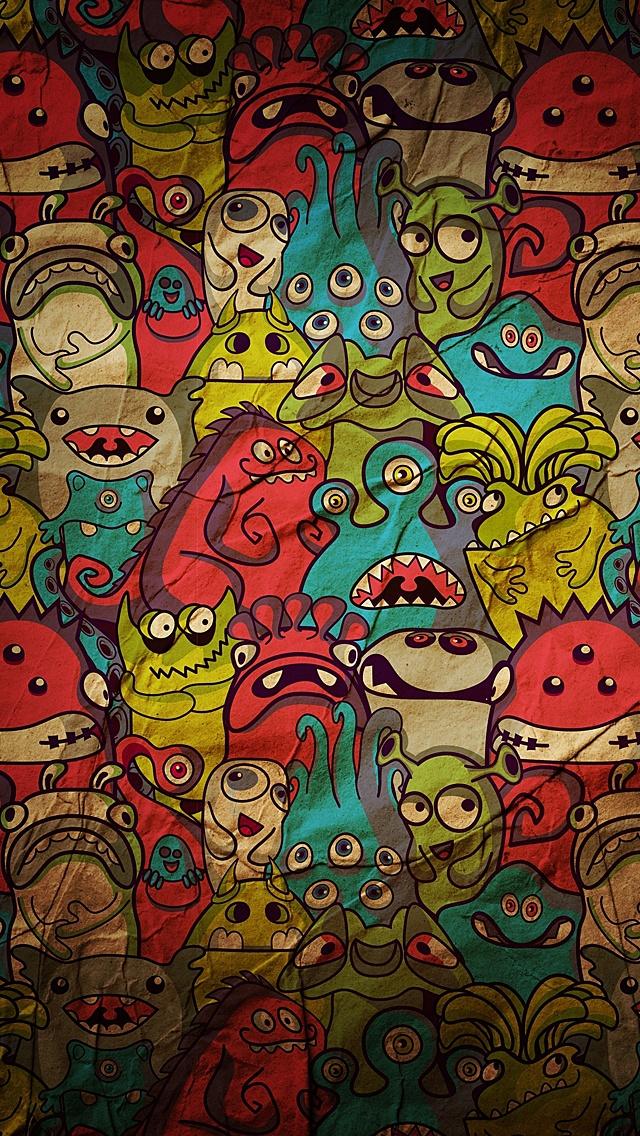 crazy cartoons iphone wallpaper tags art cartoons crazy designs 640x1136