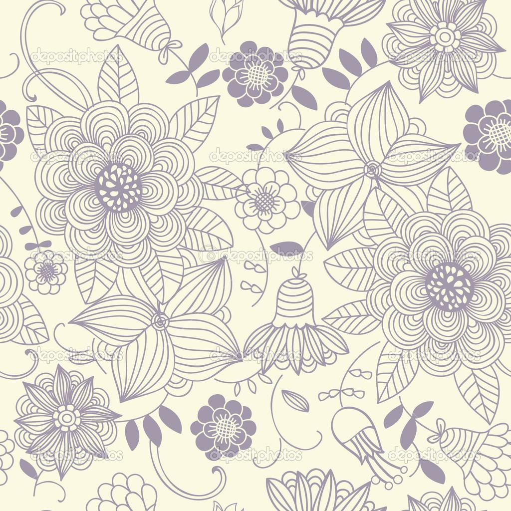 Vintage Flower Pattern Wallpaper Floral vintage 1024x1024