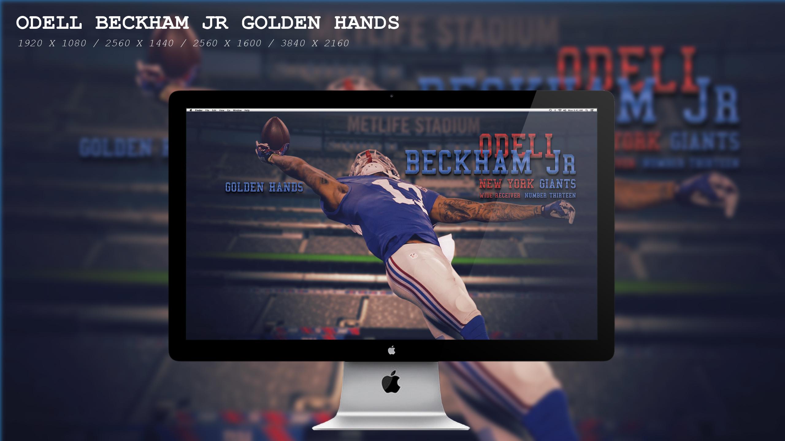 Odell Beckham Jr Golden Hands Wallpaper HD by BeAware8 2560x1440