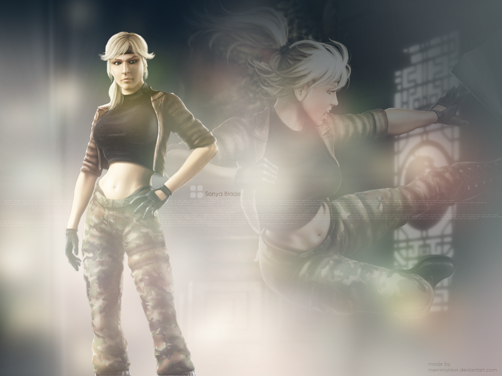 MK Shaolin Monks   Sonya Blade Wallpaper 19595574 1024x768