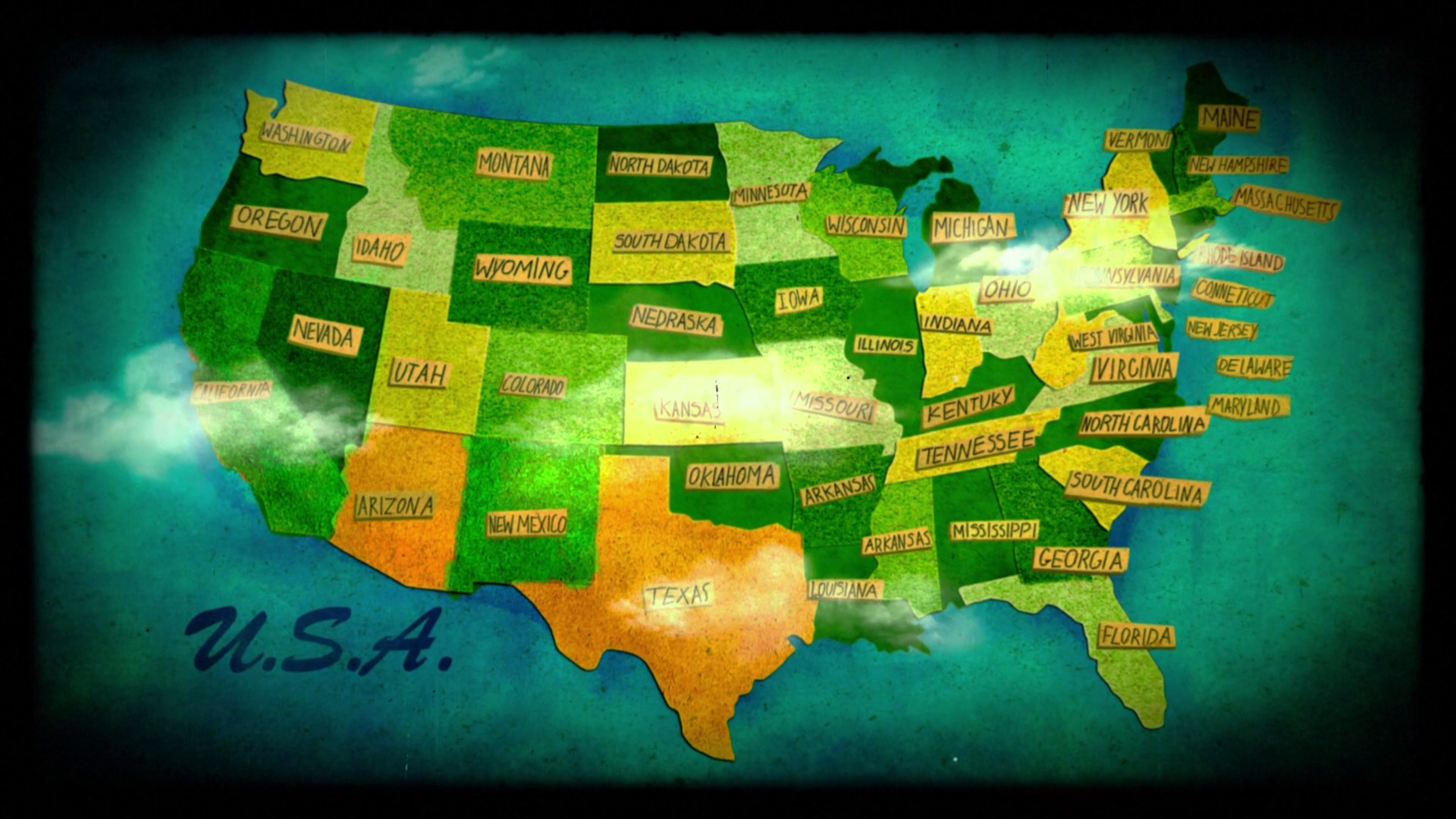 1920x1080px USA Map HD Wallpaper - WallpaperSafari