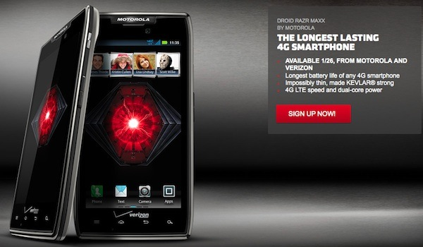 Motorola DROID RAZR MAXX Now Officially Available From Verizon 600x350