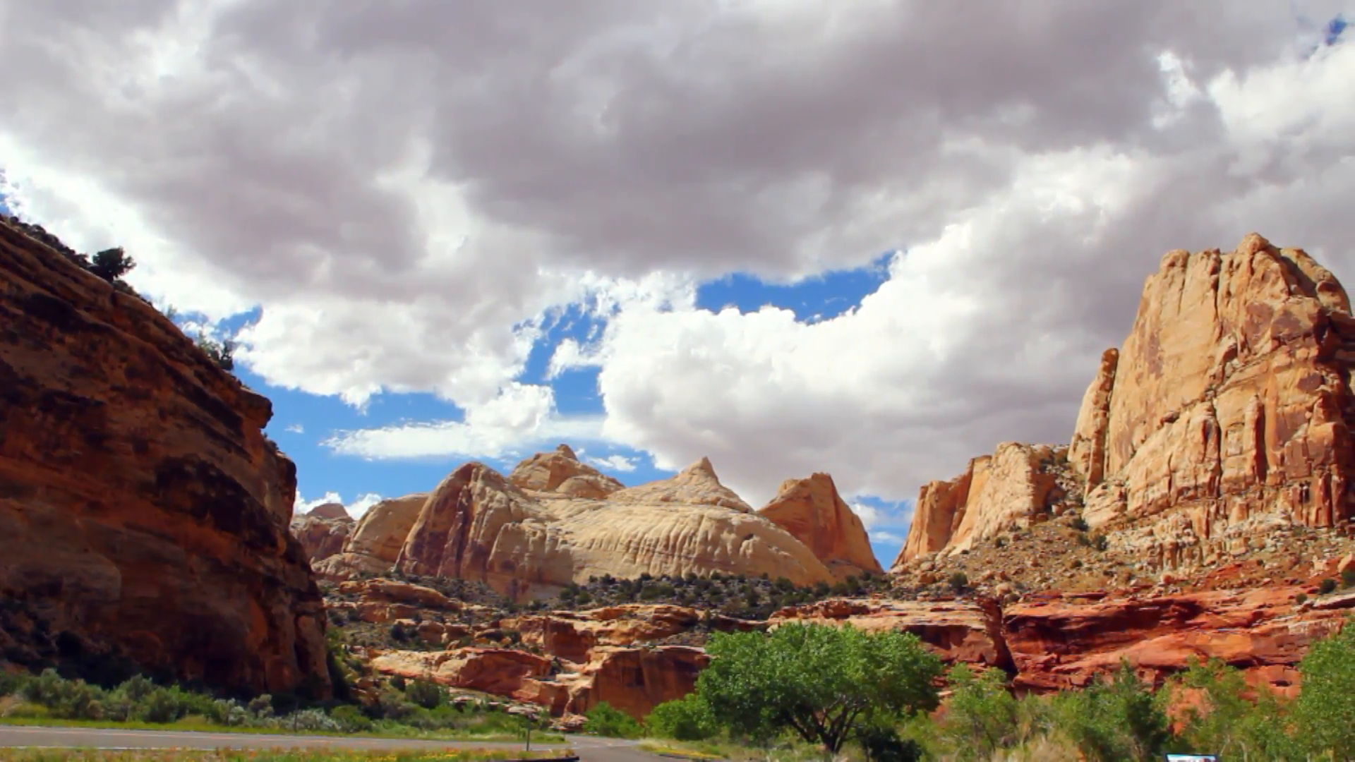 The Capitol at Capitol Reef National Park Stock Video Footage 1920x1080