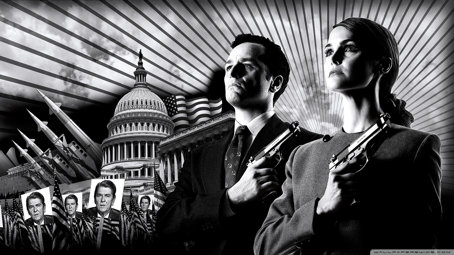 The Americans TV Show 4K HD Desktop Wallpaper for 4K Ultra HD 1920x1080