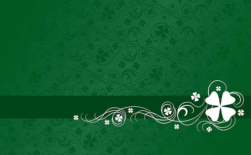 Shamrock Background Green background with white shamrock s 500x309
