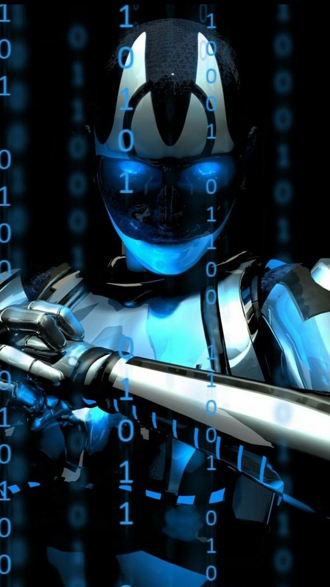 Blue Robot Wallpaper Robot wallpaper Android wallpaper 1080x1920