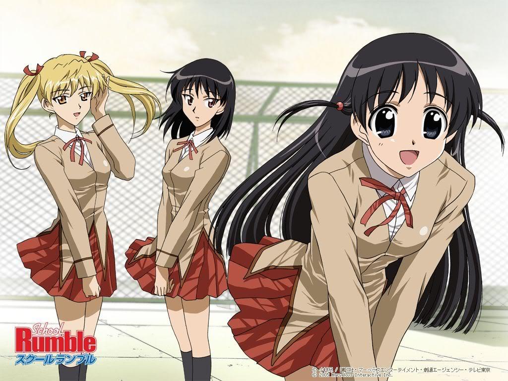 anime pictures School Rumble Wallpaper 1024x768