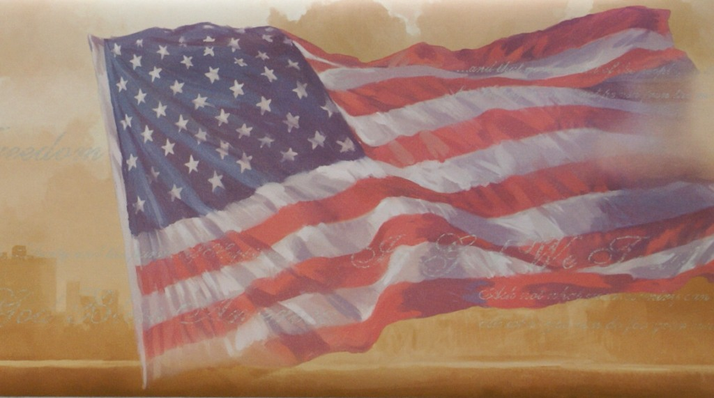 AMERICAN FLAG WALLPAPER BORDER 1024x571
