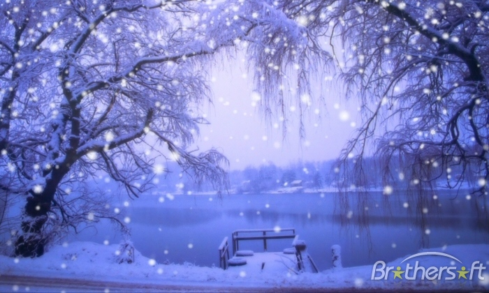 beautiful snow scenery wallpaper 700x420