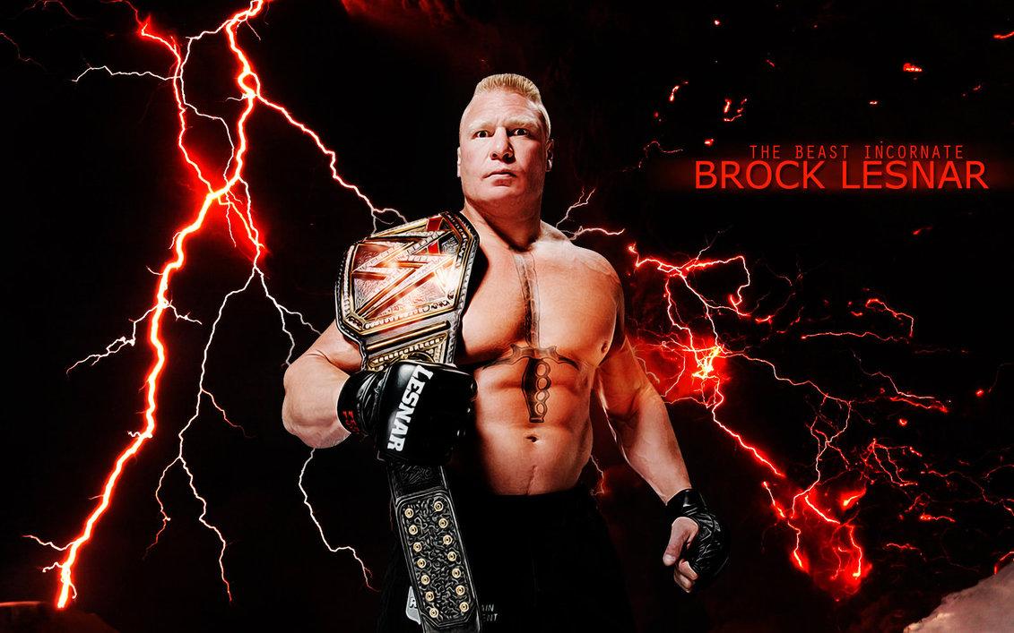 The WWE WHC Champion Brock Lesnar by menasamih 1131x707
