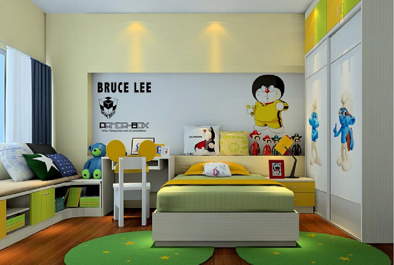 bruce lee cartoon wallpaper for boys bedroom decoration 3d decoration 1112x749
