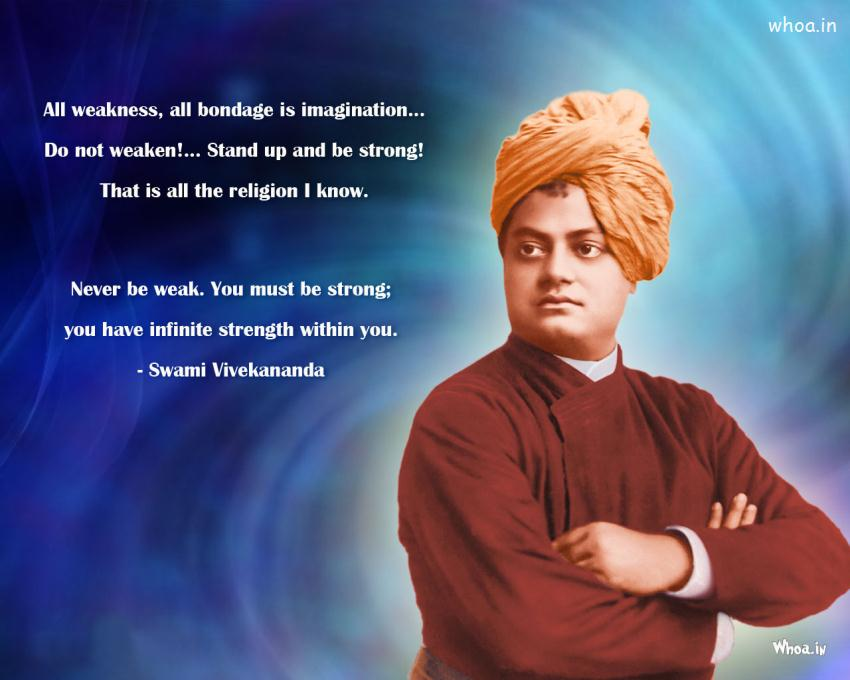 Swami Vivekananda Best Thoughts Wallpaper 850x680