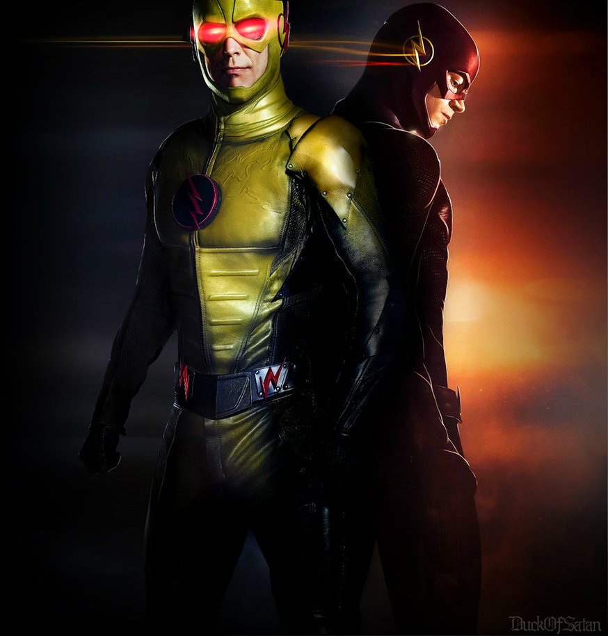 CW The Flash and Zoom by duck of satan 874x915