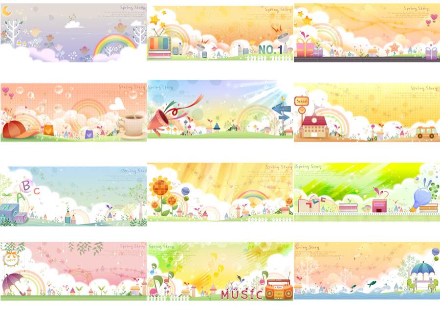 Cute summer illustrations vector Vector Graphics Blog 900x650