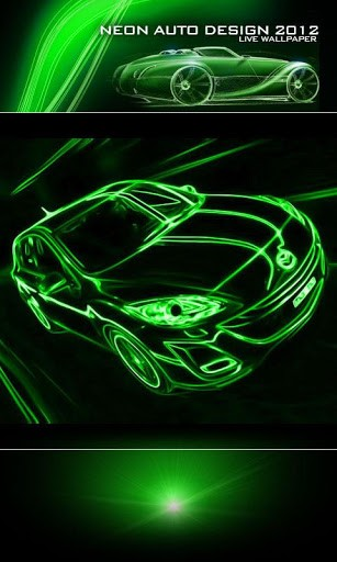 View bigger   Neon Car Green Live Wallpaper for Android screenshot 307x512