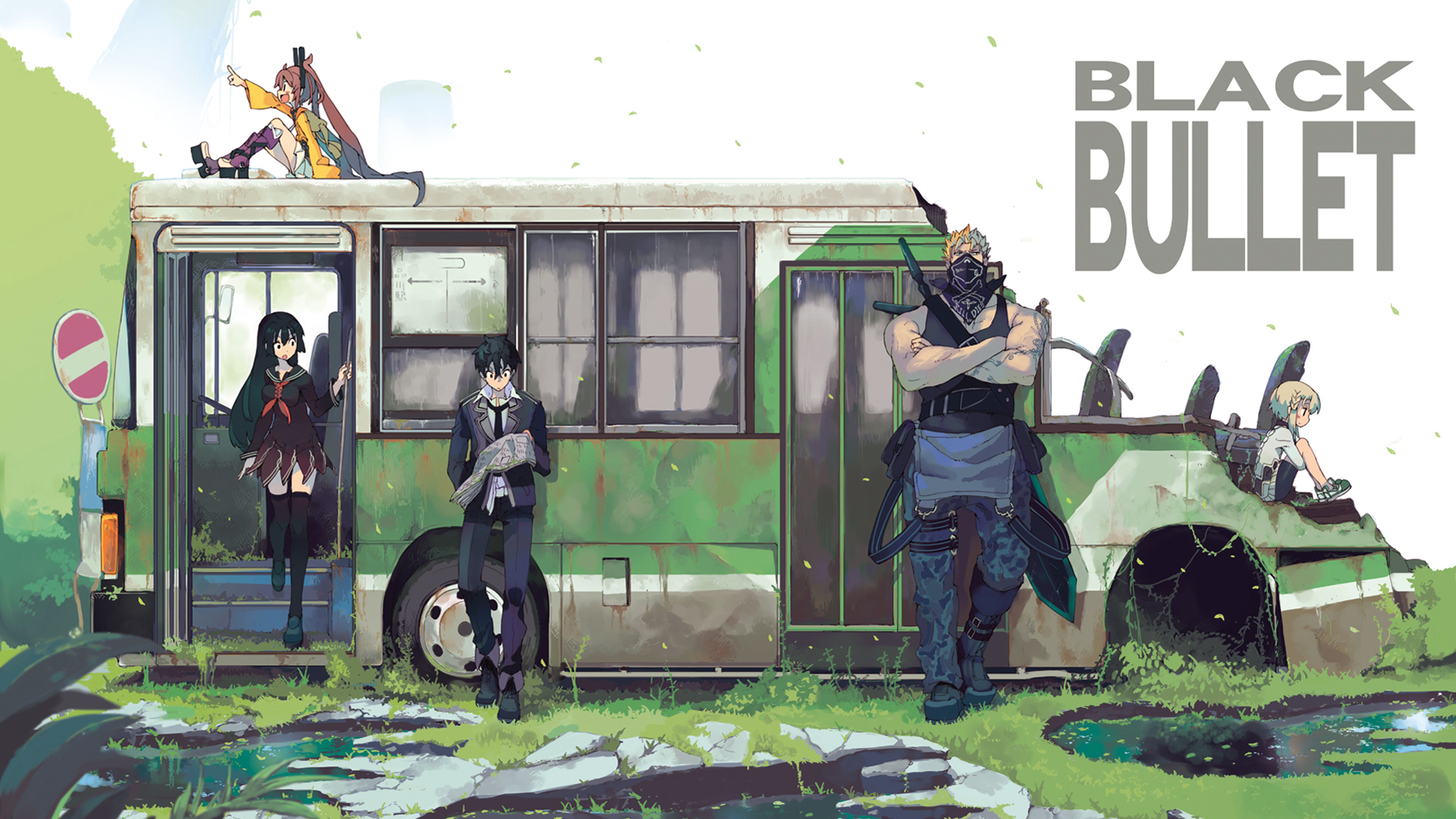 black bullet anime spring 2014 hd girls 1920x1080 1080p wallpaper and 1920x1080