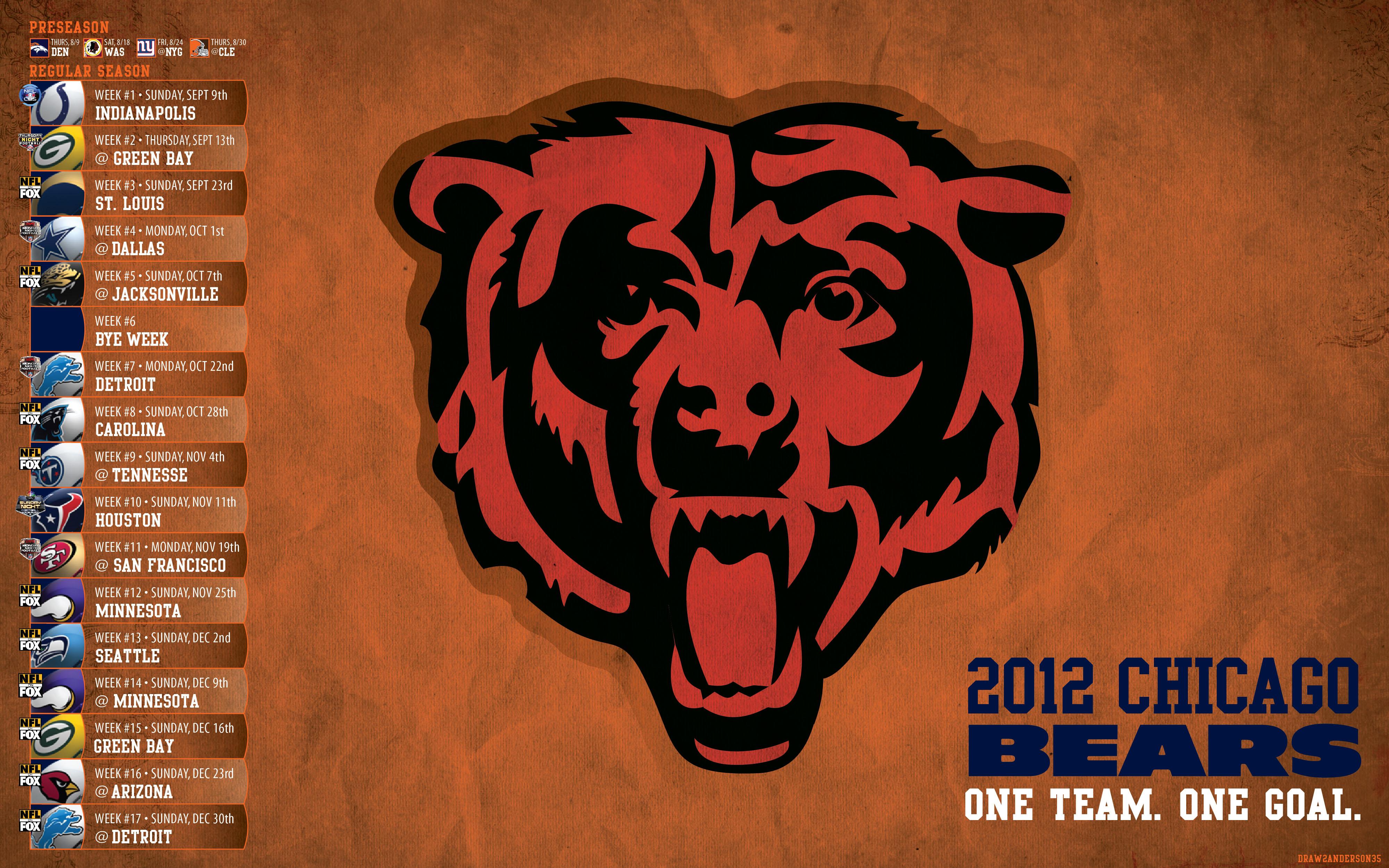 netchicago bearswallpaper free chicago bears desktop wallpaper 4 4000x2500