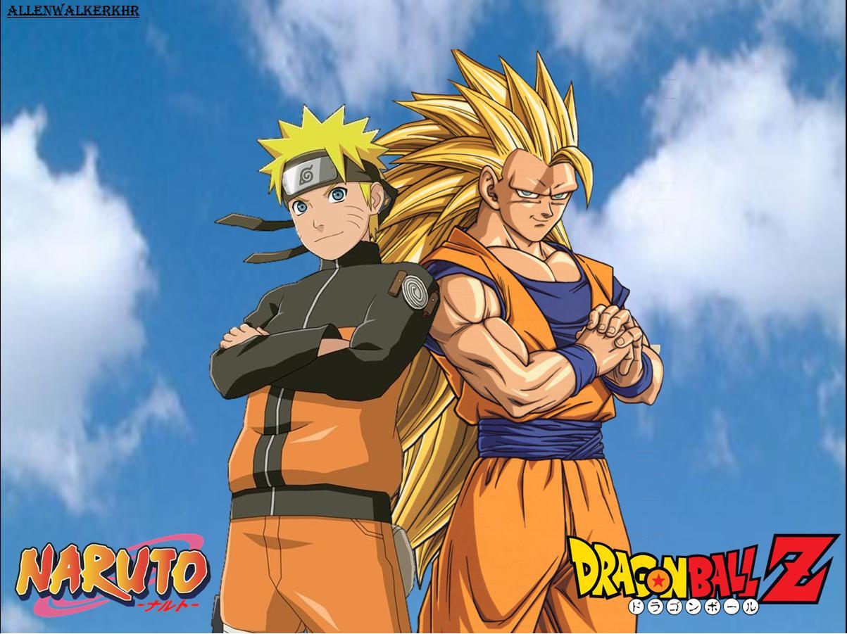 Naruto and Goku Wallpaper 1203x901