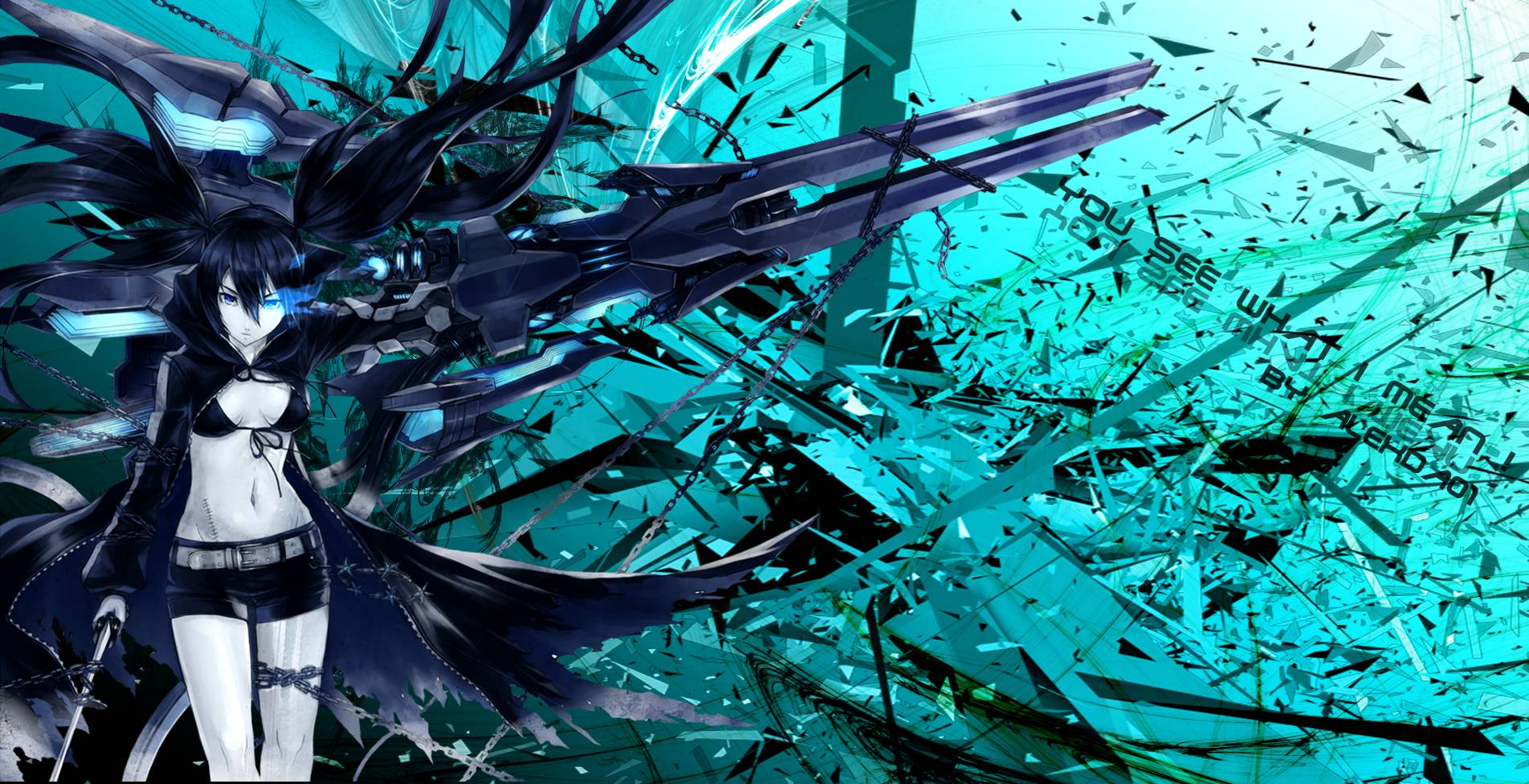 Free Download Black Rock Shooter Wallpapers 1903x976 For Your
