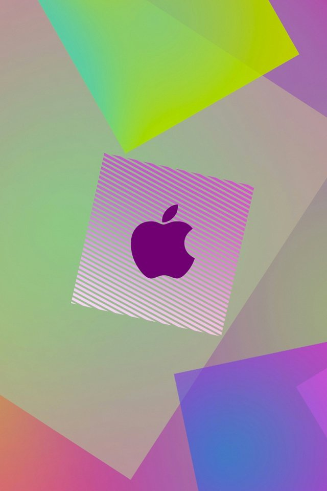 Girly Purple Apple Logo iPhone 4 Wallpaper and iPhone 4S Wallpaper 640x960