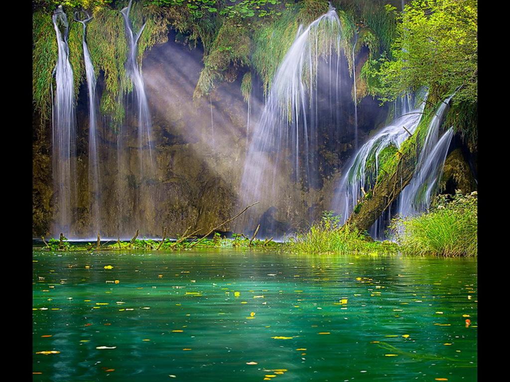 3d waterfall desktop wallpaper download 1024x768