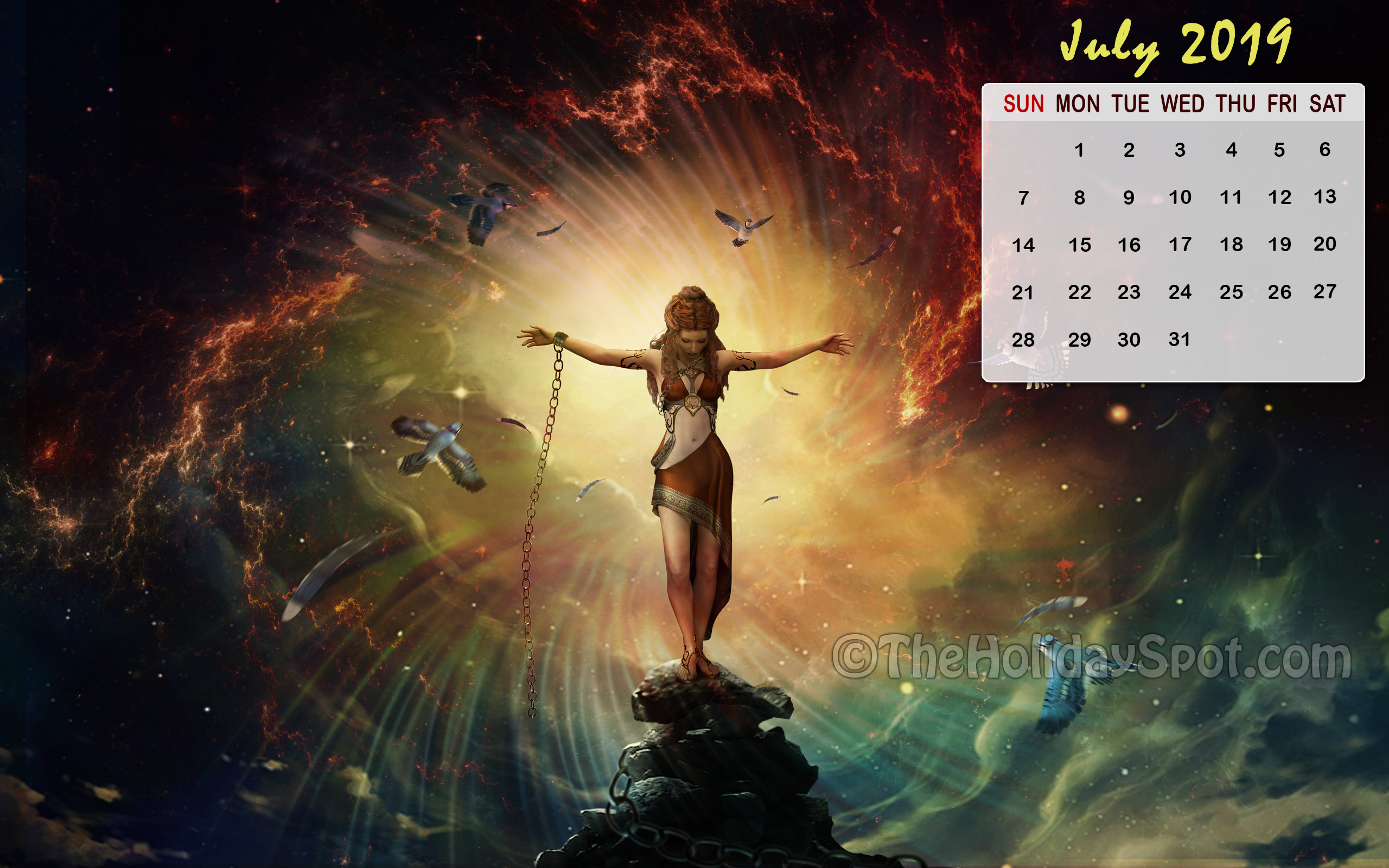 Month wise Calendar Wallpapers of 2018 2019 2560x1600