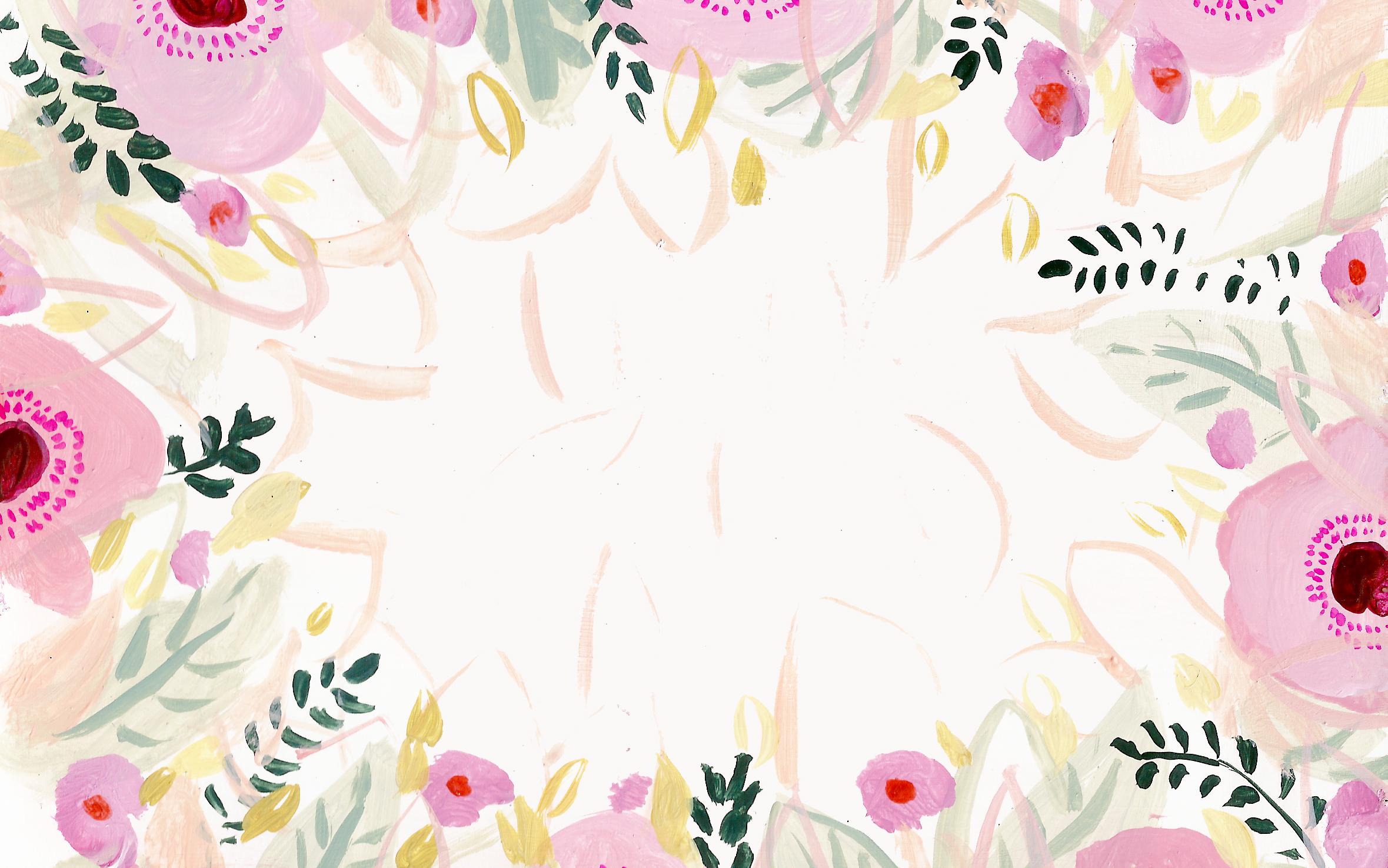 rifle paper co wallpaper pink flower desktop background