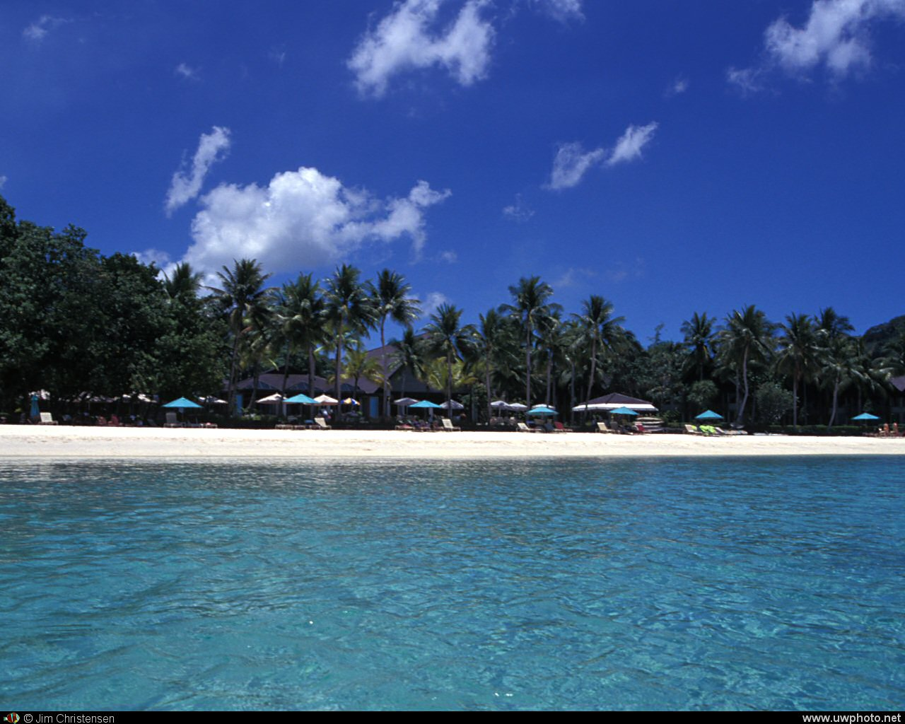 Afternoon The Palau Pacific Resort is located on a white sand beach 1280x1024