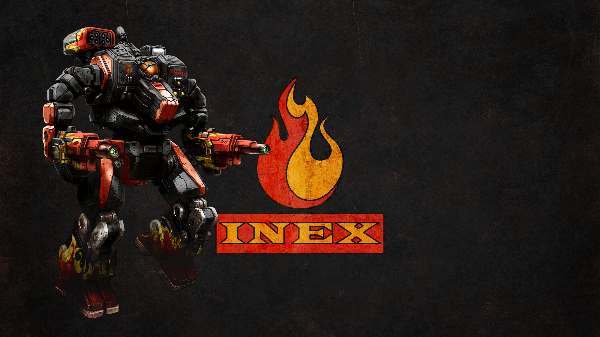 Wallpaper MWO Hellbringer and INEX logo by Odanan 1920x1080
