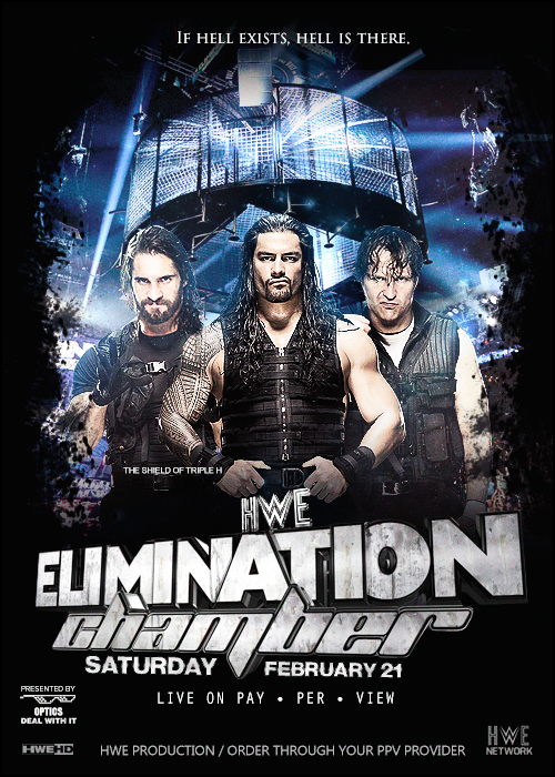 HWE Elimination Chamber 2015 Poster by GustavoTorres on 500x700