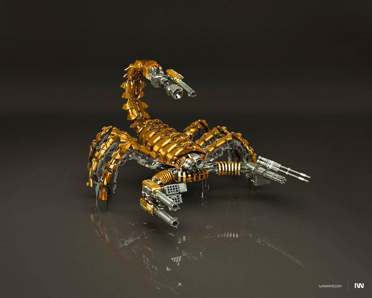 Mad scorpion Gold Edition by iuneWind 1280x1024