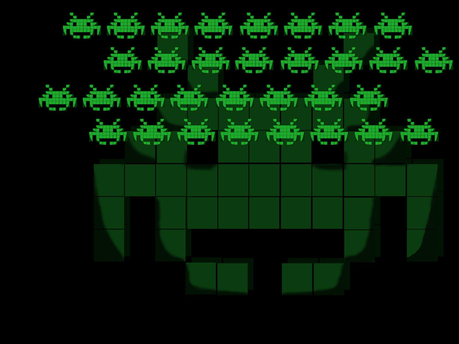 Space invaders wallpaper wallpapersafari for Space invaders