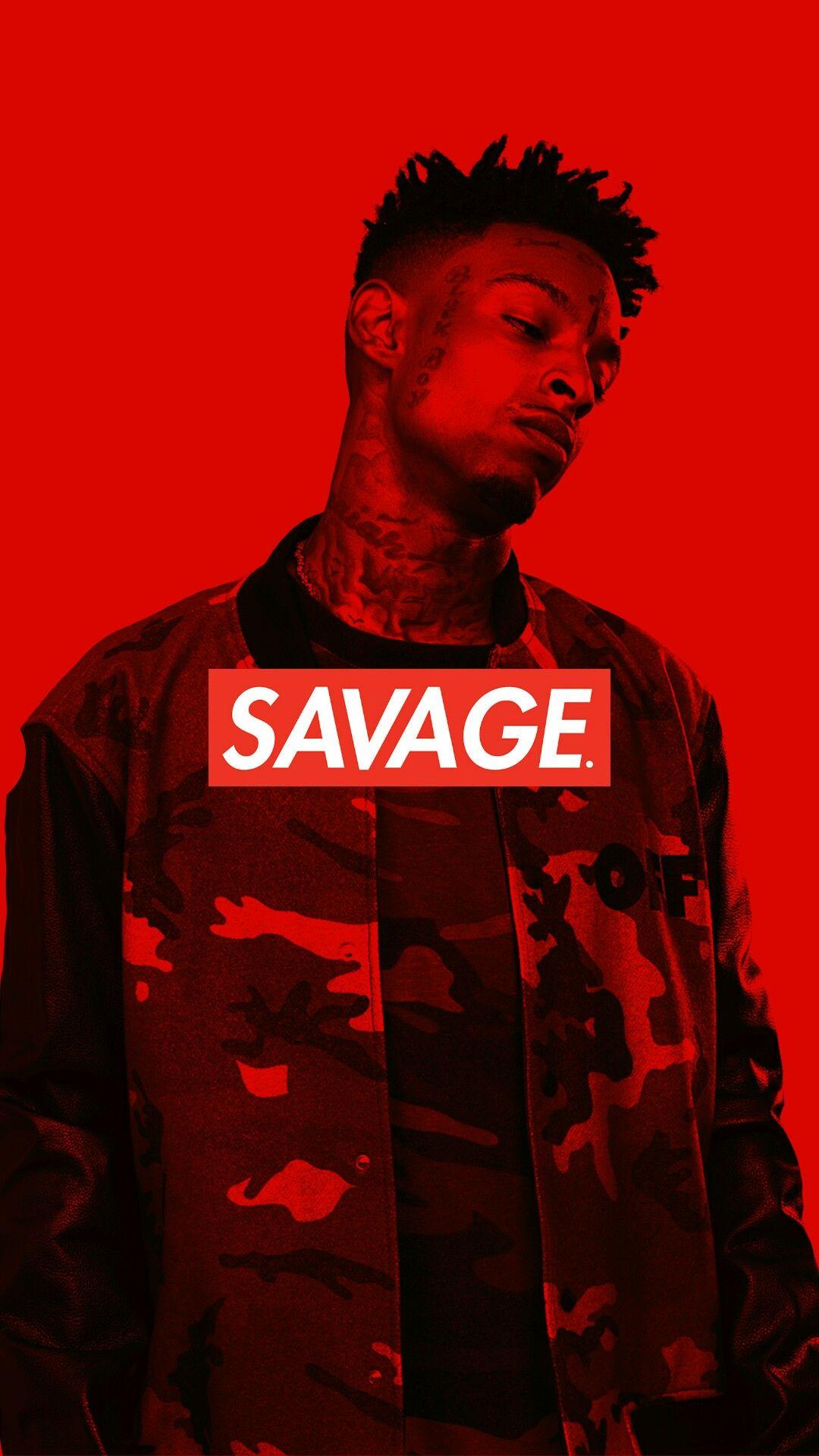 21 Savage IPhone Wallpaper Savage box logo Sfondi Sfondi per 1080x1920