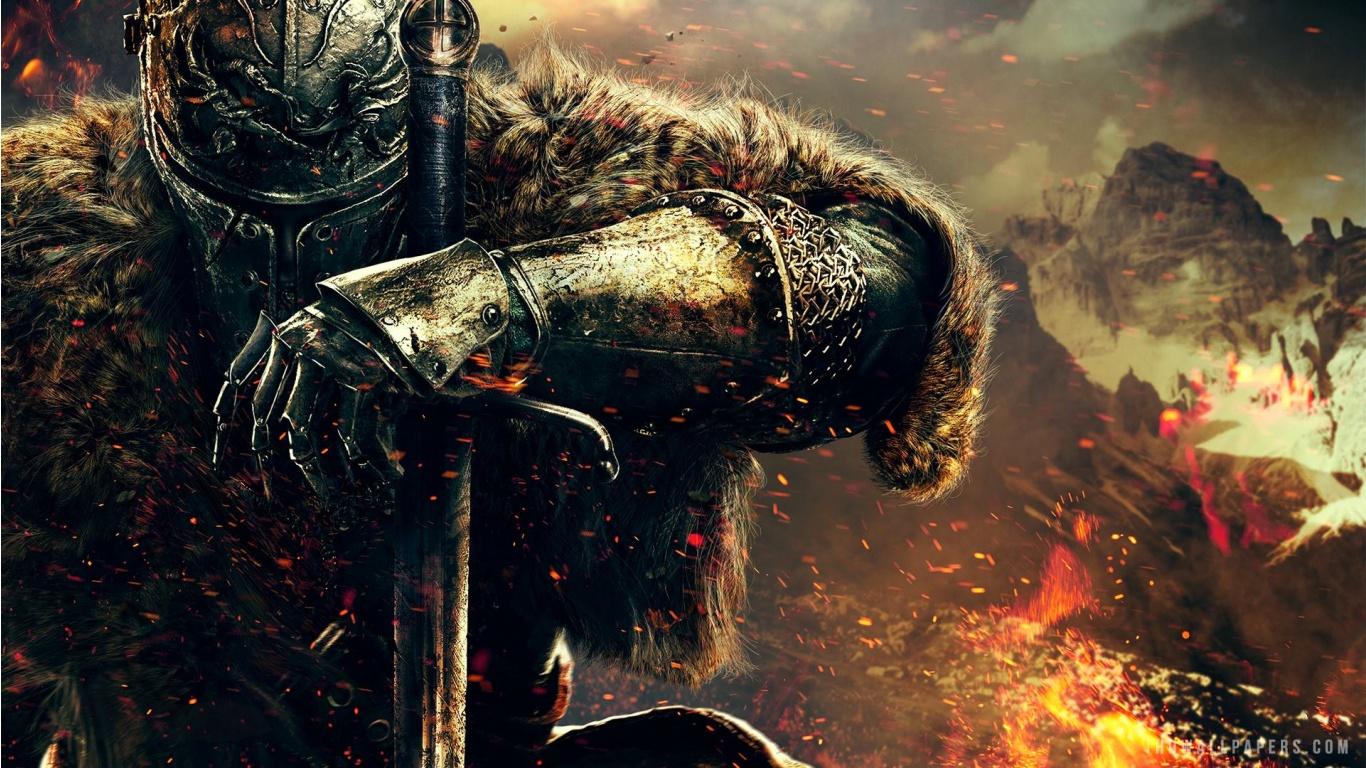 Dark Souls II Hero HD Wallpaper   iHD Wallpapers 1366x768