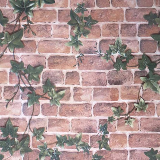 18 Vintage Brick creeper Peel Stick Wallpaper   Self Adhesive Wall 550x550